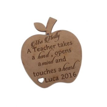 Teacher Personalised Apple - Molossi