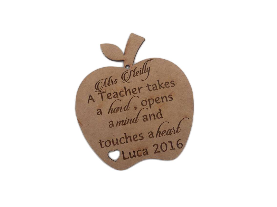 Teacher Personalised Apple - Molossi