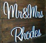 Mr & Mrs Surname Wooden Sign - Molossi